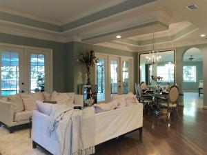Open floor plan to the living space as you enter further into the home