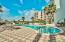 The canal front pool is the perfect spot for sunbathing on the large pool deck or a refreshing dip.