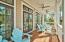 This large comfortable porch overlooks the pool deck, and is easily accessed from the living room, to make entertaining a breeze!