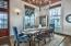 Dining area located on the second floor with beautiful gulf views and large outdoor porch.
