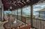 Large porch just off the living/dining with beautiful gulf views.