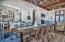 Living/Dining area on second floor with beautiful gulf views and large outdoor porch.