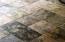 Tile floor in porch