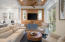 Living/Dining combo opens onto covered Porch for alfresco dining