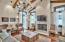 White Oak Hardwood Floors & Ceiling Beams [Built on Site], Designer Lighting