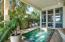 Gulf front Loggia with Heated Pool, Fireplace and spa, 3 Sitting Vignettes & TV