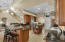 Kitchen with upgraded appliances and cabinets.
