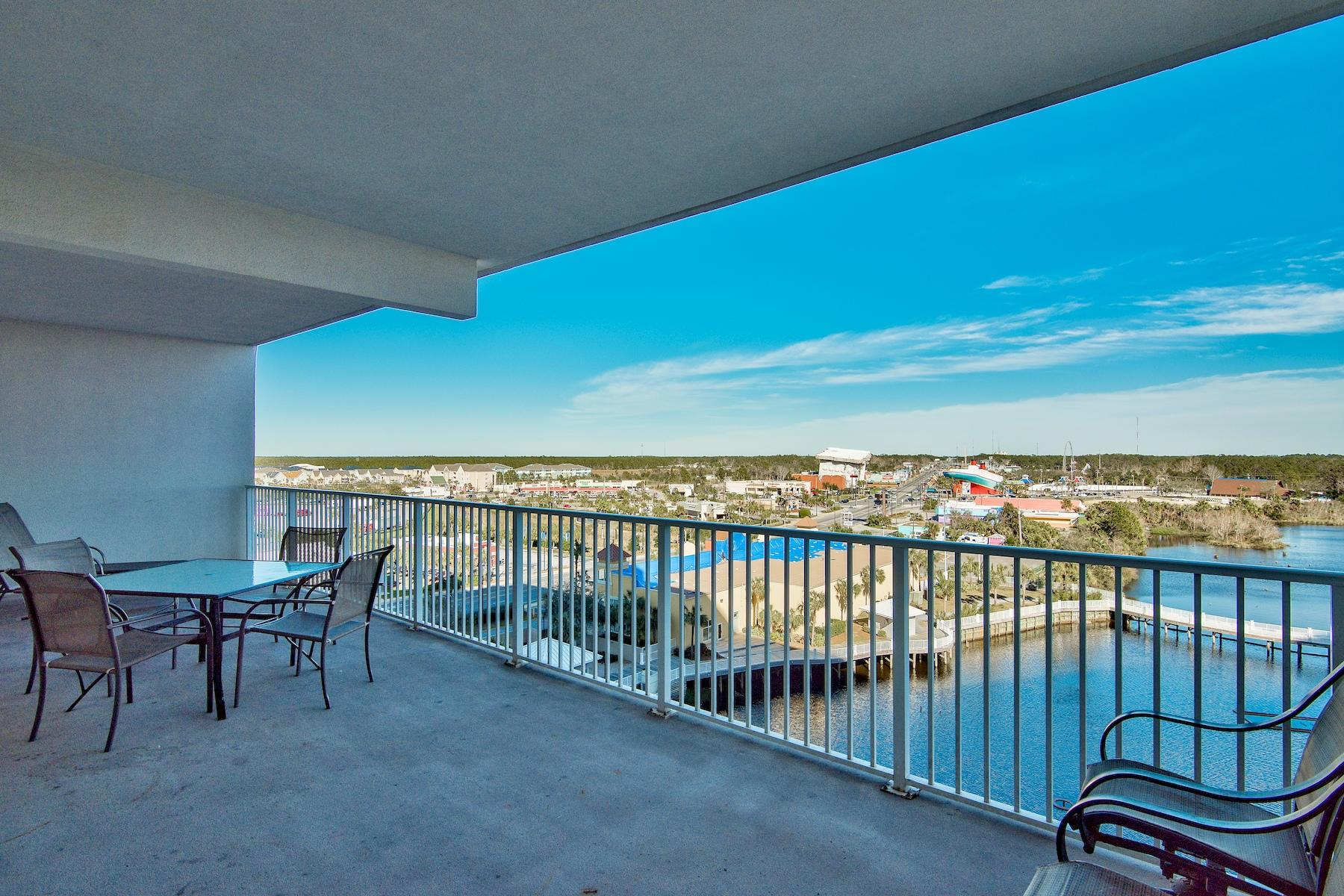 Lowest priced 3 Bedroom in Laketown Wharf! This fully furnished unit sits on the 7th Floor in an ideal location not too low and not to high up!  Laketown Wharf Resort is the complete package located in the heart of Panama City Beach.  The amenities make this place one of a kind and include the following: Convenient Beach Access, 5 Unique Pools, a Kids Funscape Playground, Splash Bar & Grill, Gulf View Fitness Center & Covered Garage Parking and more.  Enjoy the nightly Fountain & Light Show & Market Shops along the 52,000 square feet of Lakefront Boardwalk.  This unit is priced to move and financing is available with only 10% down with certain lenders today(subject to credit approval)!  Call for more information.