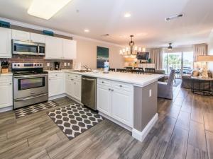 Beautiful hardwood tile throughout condo