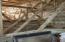 Isonene spray-in foam insulation throughout attic.