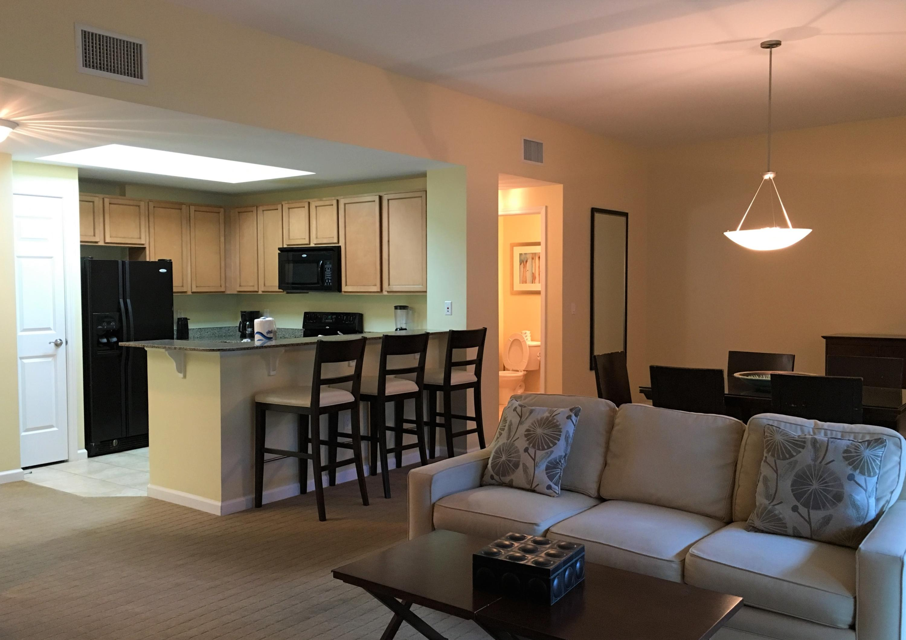 REDUCED! Great Price on a Poolside Villa at the Palms. Large open unit with huge bedrooms. Split floorplan with Bedroom and Bath on either side with Kitchen and living area in the middle, walk right out to the best pool in Destin!