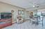 This condo is offered fully furnished. Excellent opportunity for a Gulf front, turn-key vacation rental investment. Living area has a flat screen TV and sleeper sofa for added guests.