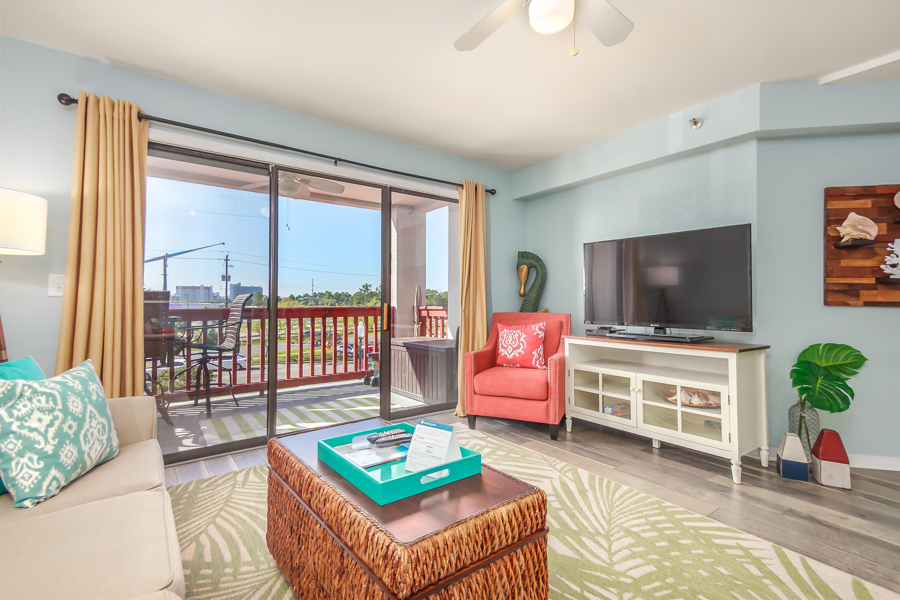 This unit won't last long come see this Beautiful 1BD/1BA condo in walking distance to beach and close to Pier Park and is rental ready. The Plaza's of St. Thomas is a wonderful complex with Boat Launch, Community Pools, Elevators, fishing, Gated Community, Pets Allowed, Picnic Area, Retail Shops, Tennis Courts, Dock. This unit has been upgraded and is perfect for a 2nd home getaway or as an investment under $150k.Recent upgrades include new Flooring , paint popcorn ceiling removed in living room kitchen and bath, new glass on sliding patio door, new screennew vanity and toilet and also new built out owners closet. Access to all condo docs at http://stsmoa.com/plaza/ Vacasa rental site  https://www.vacasa.com/unit.php?UnitID=12165