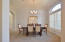 Formal Dining Room adjacent to Kitchen for easy entertaining.