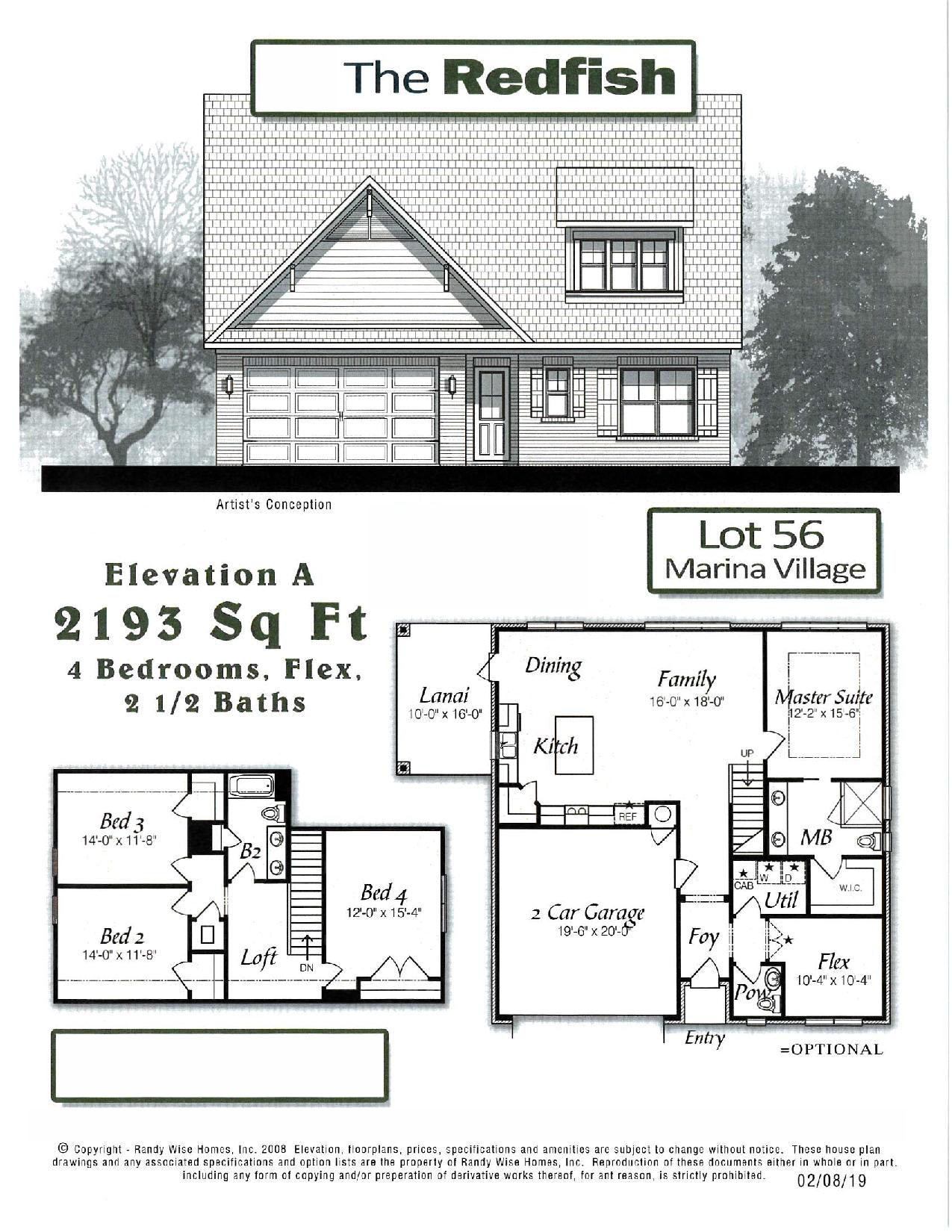 LAST LOT IN CUL-DE-SAC!! Marina Village is a private, quiet, bayou-coastal community with a pool, playground, and stocked ponds for catch and release fishing only. Marina Village has direct access to Lagrange Bayou via the Freeport Marina, which is the only full service marina in our area! The Redfish two-story floor plan has 2193 sq.ft. with 4 bedrooms plus a flex room, and 2.5 baths. Brick exterior, low e-vinyl windows, covered entry, 2 car garage, and landscaping package with automatic sprinkler system are just some of the exterior finishes on the home. Interior finishes include 9 ft ceilings, laminate, tile, and carpet floor coverings, brushed nickel fixtures, double vanity and walk-in closet in the master bath, and granite counter tops, as well as upgrades to include 8 ft interior