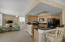 Kitchen and den area