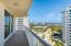 Balconies surround the entire condo