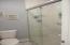 Marble shower in Master Bath