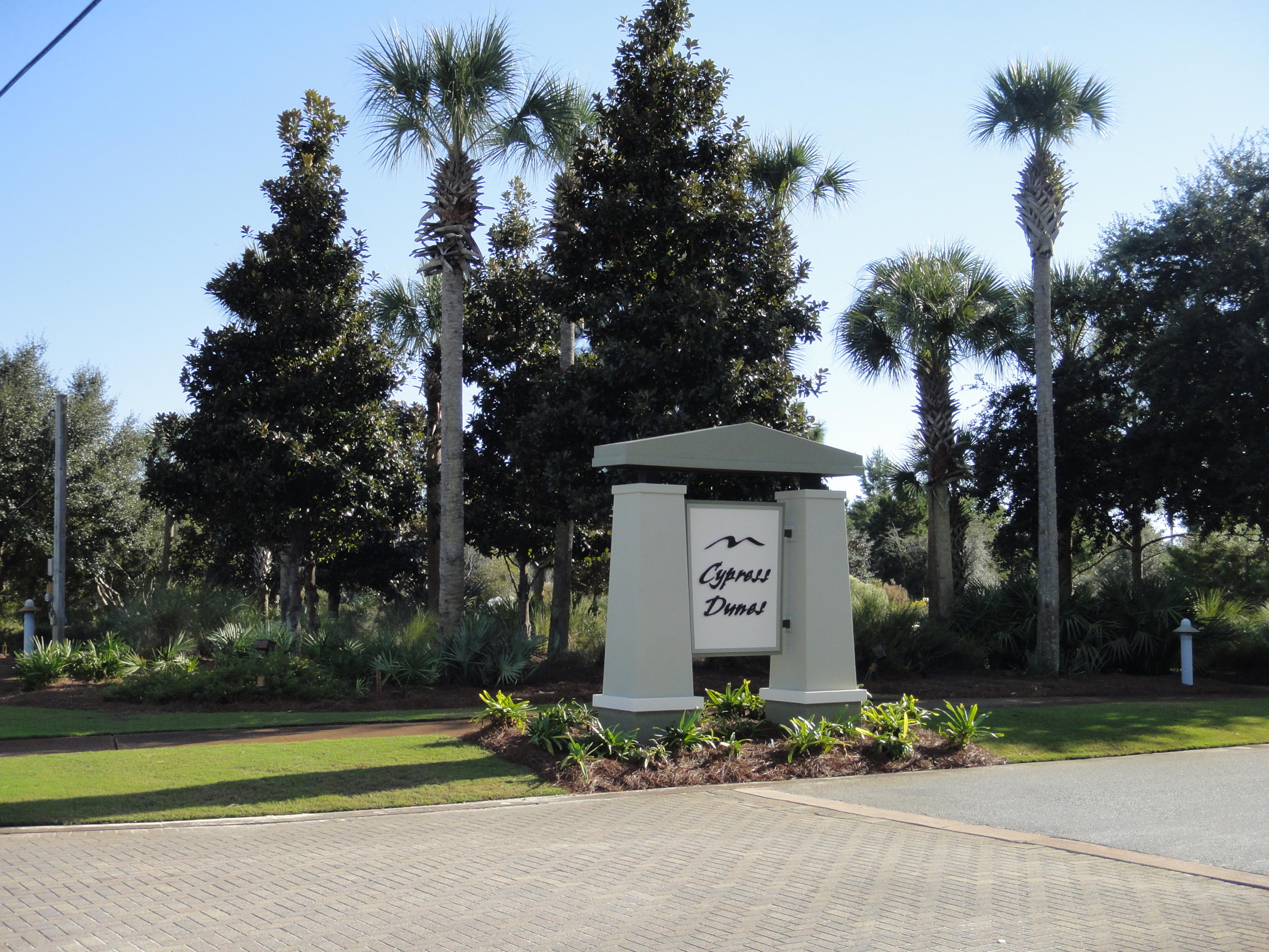 Cypress Dunes front sign