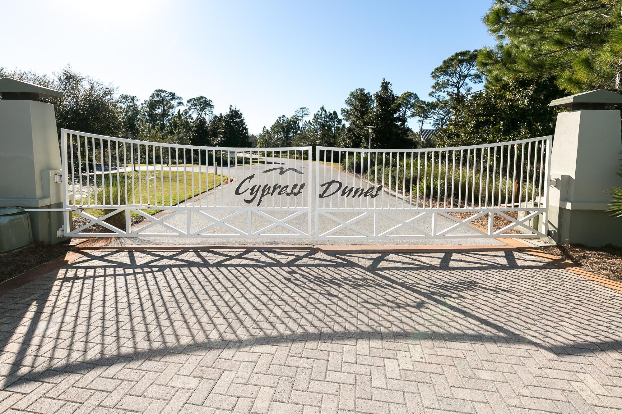 Cypress Dunes gate Phase 1