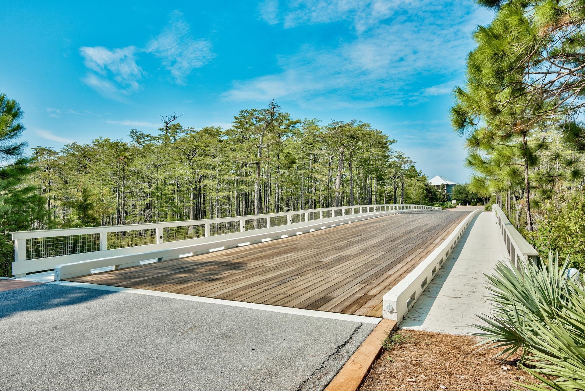 Cypress entrance  bridge