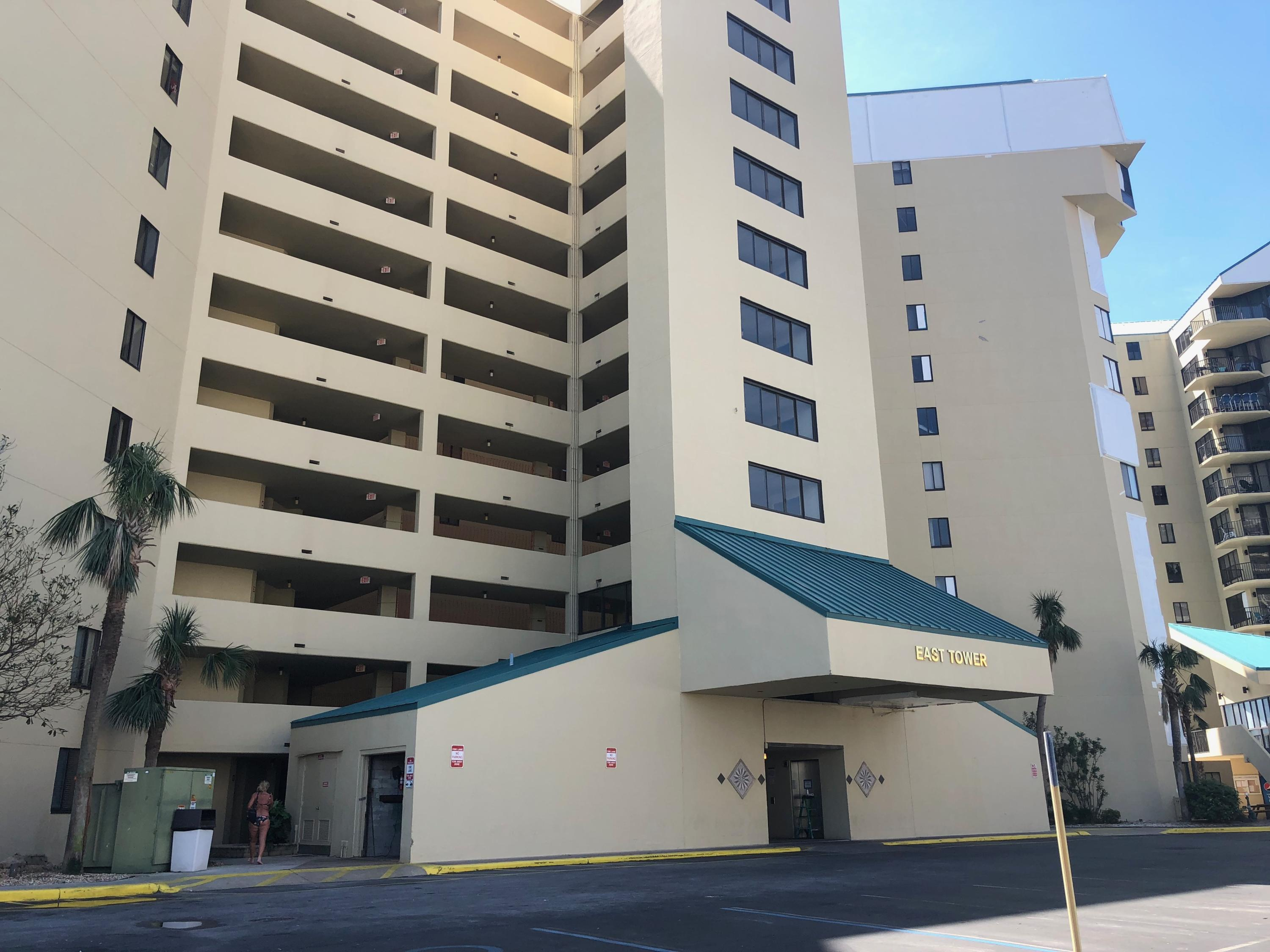 This unit has drywall damage from Hurricane Michael.  The fee has been paid for repairs that will be completed by the HOA.  All measurements are believed accurate but should be checked if important to buyer.  This complex is a super rental property in close proximity to all of the shopping and dining that makes this area so popular to guests.  The pool is presently not operational but will be redone.  This one bedroom is close to the grill area and would be a great beach get away or a full time rental property for it's owner.