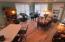 Colonial oak engineered wood flooring throughout