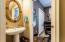 1/2 bath off hallway/bonus room/office