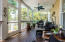 Rear screened porch with open patio/decks on each side