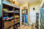 One of two walk-in closets