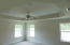 Master Bedroom. Trey ceiling. recessed lighting. Ceiling Fan with light. Windows let in lots of natural light.