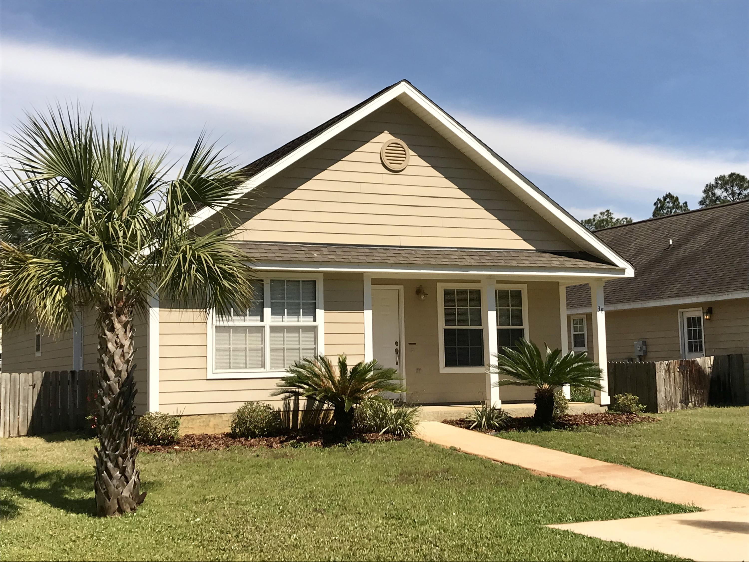 ***72 Hr First Right of Refusal In Place***MAJOR PRICE REDUCTION * AS-IS *  CALLING INVESTORS/1ST TIME HOME BUYERS!  CLOSING BEFORE 7/31/19***Super cute Florida style cottage just 10 minutes from the beautiful beaches of South Walton.  Easy living, low maintenance exterior with a great open floor plan.  Kitchen  features stainless appliances and breakfast bar. You'll appreciate the oversized laundry room for additional storage.  Nice size bedrooms with spacious closets.  Master bedroom includes 2 closets (one is a large walk-in), master bath features double vanity, private toilet closet and shower/tub combination.  Fenced back yard with spacious storage shed.  Don't wait, own your home for less than most rent.