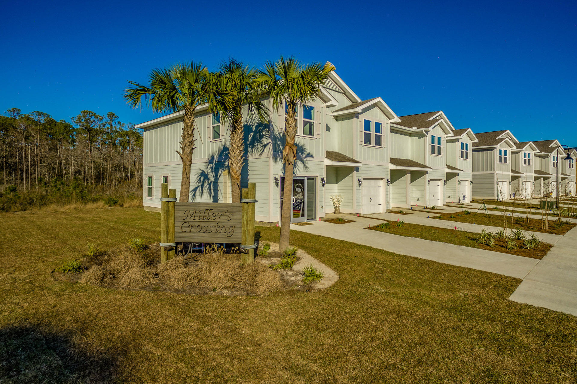 Miller's Crossing - Now Selling. MODEL HOME NOW OPEN!! Contract now to pick colors and options- Estimated Closing July 2019. AMAZING OPPORTUNITY to own new construction with introductory pricing in South Walton. Located just minutes awayfrom famous CO Hwy 30a, some of the country's best beaches, incredible shopping, and world class dining. Miller's Crossing is in a central location to both Destin, andPanama City Beach, allowing you to enjoy the best of both worlds. Walking distance to Alaqua Unleashed Dog park, Padgett Park, nature trails and public library.