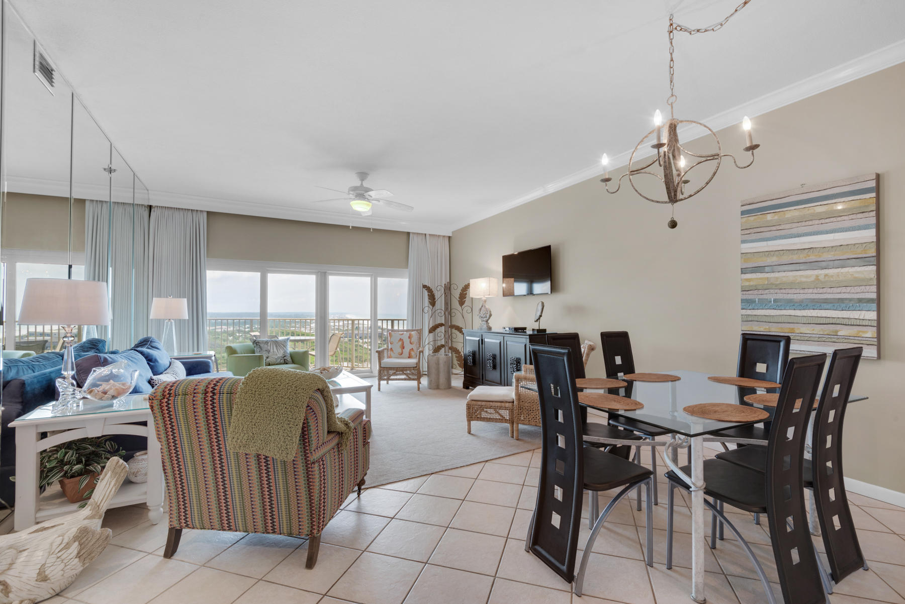 As you walk into the front door of this two bedroom Tops'l Beach Manor the view will take your breat