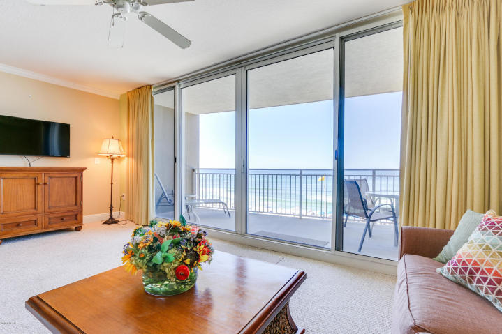 Welcome to Paradise! Located in the luxurious Emerald Beach Resort - PCB's newest destination resort, this 4th floor unit has a spectacular views of the Gulf of Mexico and would make a perfect investment property, second home, or permanent residence. This unit is freshly painted and meticulously maintained (new HVAC in 2017 & new HWH in 2016) Approximately 934sf 1+ bedroom / 2 bath luxury condo. Kitchens with 3cm granite counter tops and GE profile appliances. Laundry area with full sized washer/dryer. 12' foot wide, ceiling to floor, sliding balcony doors brings those beautiful Gulf views into this condo. These 1 bedroom plus bunks with 2 full baths are great rental properties, with some generating gross annual income of $30,000+.