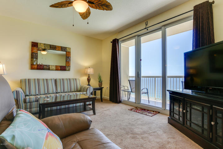 Incredible value for this turnkey 1BD/2BA at Seychelles! Close in time to capture high $ rental income. Quarterly HOA dues cover all utilities even power! This property has been meticulously maintained - new HVAC 2/2017! Conveys fully furnished and rental ready. New furnishings area and stainless appliances. Let this condo be your next home away from home or performing investment property! This cozy 1 bed/2 bath condo accommodates six people with a king in the master bedroom, built-in hallway bunks, and a sofa sleeper. Located in very desirable area of Thomas Dr. next to popular restaurant Schooners and less than one mile from St. Andrews State Park one of the most beautiful and popular state parks in the state!