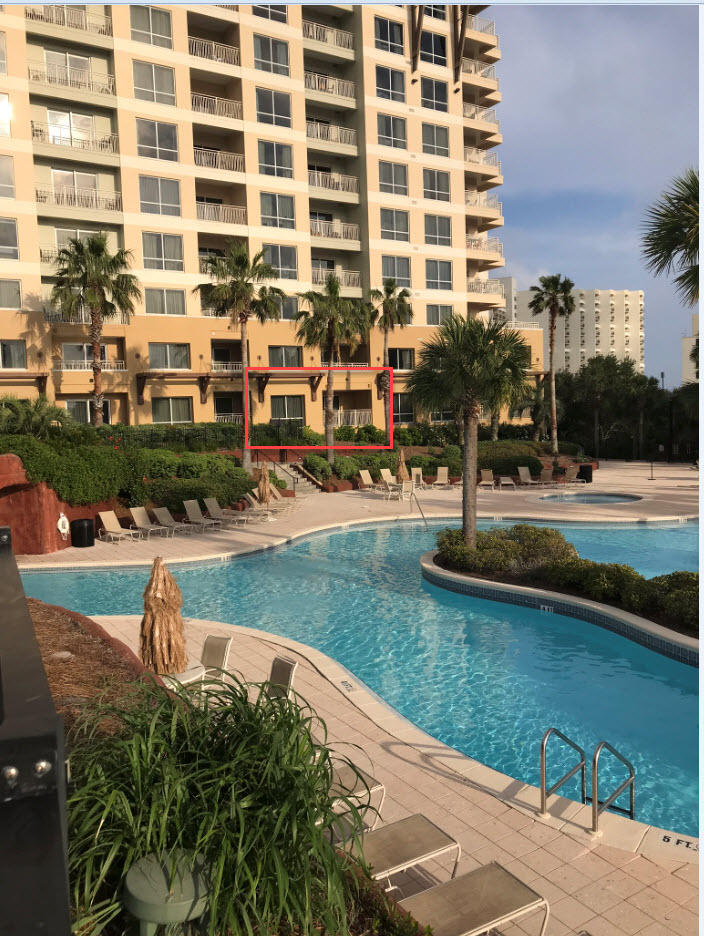 """Stunning location and largest 1BR floor plan (795 sq ft)!  There are very few 795 sq ft 1BRs, and this is one of those few!  It is located on the desirable West side of Tower 2, AND is one of only four units on the ground floor and pool side, which really makes this your unique find!  Completely updated w/woodgrain vinyl plank flooring (perfect for beach), entire repaint, new stainless steel appliances, and new Sealey Posturepedic King Bed. Water heater replaced 2015 and AC unit in 2011.  Further upgraded amenities: electronic keyless entry, a full kitchen with tile and granite countertops, a 10ft granite bar with seating for 4, washer/dryer, two flat-screen TV's and DVD players, and upgraded stereo sound in LR. Fully equipped for immediate vacation rental, or as your favorite beach getaway, and stocked with all linens, dishes, cooking utensils, pots and pans. King bed in the BR, fold-out Queen and Single in LR, means this unit can comfortably accommodate a family of five.  Three minute stroll past the pool to beach.  Includes fully stocked owner's cage with beach equip. like chairs, umbrellas, coolers, etc.  Offered as an online, owner-managed vacation rental for years, and has consistently realized annual sales in the $30k range (not guaranteeing same for new owner). Has never been offered as a winter """"Snowbird"""" rental, so potential to increase sales is certainly high. Smaller Luau 1BRs being sold anywhere from $30-$50 more psqf, so don't miss this rare opportunity!"""