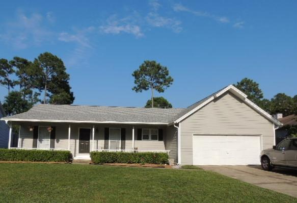 This home is located just on the north side of 393 and is just a short drive down to the public beach access on 393. It is in the New Dunes Lake elementary school district. You are welcomed by a covered porch as you enter the home. It has new carpet in bedrooms. The dining area opens to the kitchen for easy access and convenience. The master bedroom has a walk in closet. The back yard is large and fenced. The subdivision is gated for privacy and in a cul de sac. Close to schools , grocery stores and shopping this is a great starter home or rental.  As always all dimensions and HOA fees are to be verified by the new buyer