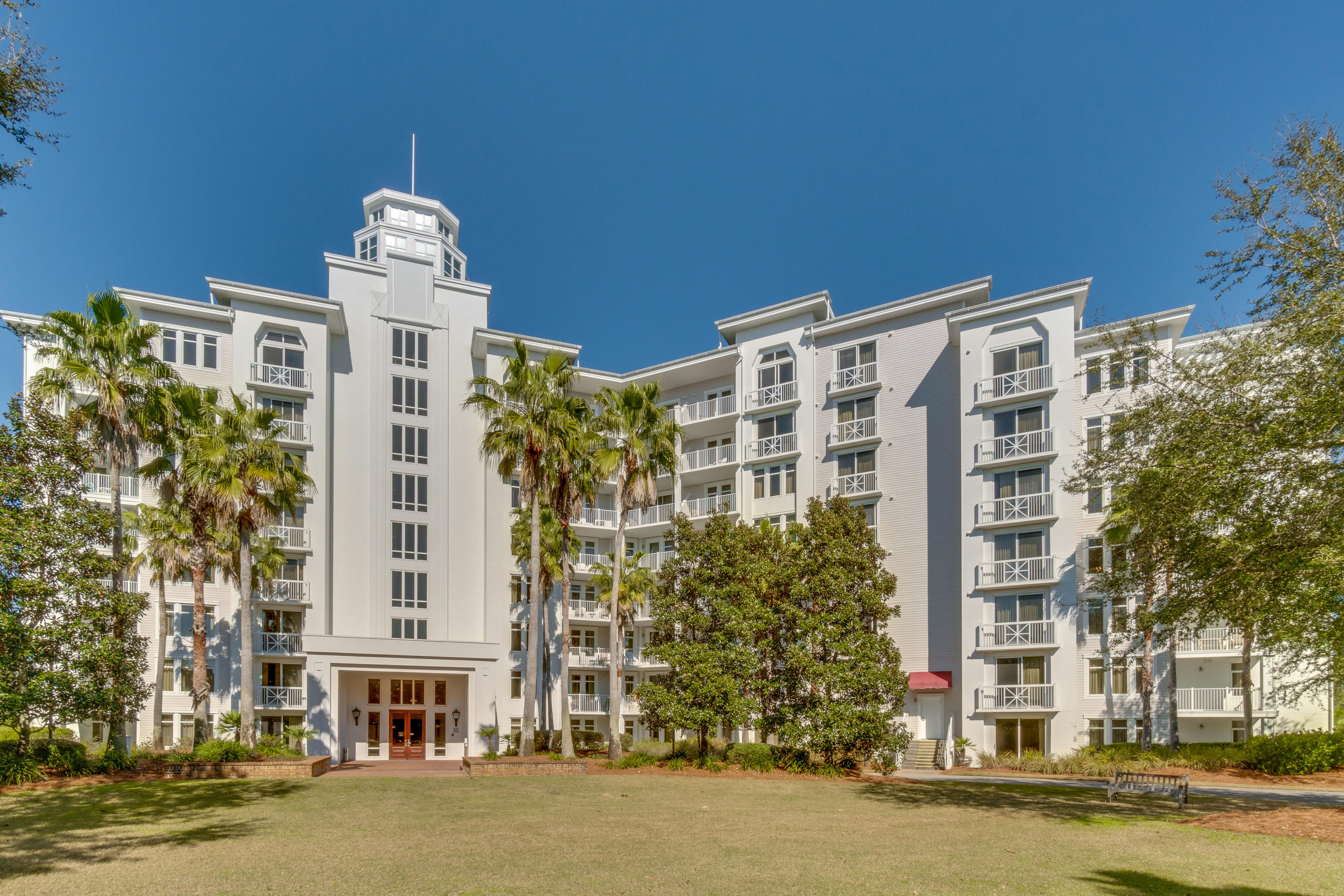 """A-rated on Sandestin Rental on the 4th floor with a Juliette balcony overlooking the lovely Grand Gardens. Enjoy recent improvements including a new HVAC air handler-2016, new queen sleeper sofa-2017, new side tables, coffee table, & tv stand -2018, new paint-2014, and new carpet-2013. This resort condo is being sold fully furnished and rental ready. The laundry facility is conveniently located on the same floor. Elation is located adjacent to the fabulous shopping, formal and informal dining and night life hot spots in the pedestrian Village of Baytowne Wharf. Owners also have access to the private Solstice Club, an amenity for owners and their guests, featuring grills, screened porch with gas fireplace, indoor bar, flat screen TV and comfortable seating inside and out. As an introduction to the Sandestin lifestyle, we invite our new owners to explore amenities that make Sandestin special. The listing brokerage and seller(s) are presenting the buyer(s) of this property with (2) 90-minute rounds of Tennis court time, a golf foursome at one of our three championship courses, a round of golf for up to four (4) players and an invitation to """"Club Night"""" at the unrivaled Burnt Pine Golf Club.  Sandestin Golf and Beach Resort is a major destination for all seasons and all ages, and has been named the #1 resort on Florida's Emerald Coast. This magical resort spanning over 2,000 acres is comprised of over 70 unique neighborhoods of condominiums, villas, town homes, and estates. The resort features miles of sandy white beaches and pristine bay front, four championship golf courses, a world-class tennis center with 15 courts, 4 resort swimming pools (and 15 private neighborhood pools), a 123-slip marina, a fully equipped and professionally staffed fitness center and spa, meeting spaces and The Village of Baytowne Wharf, a charming pedestrian village with events, shopping, dining, family entertainment and nightlife. For true golf cart community living, Grand Boulevard is just """