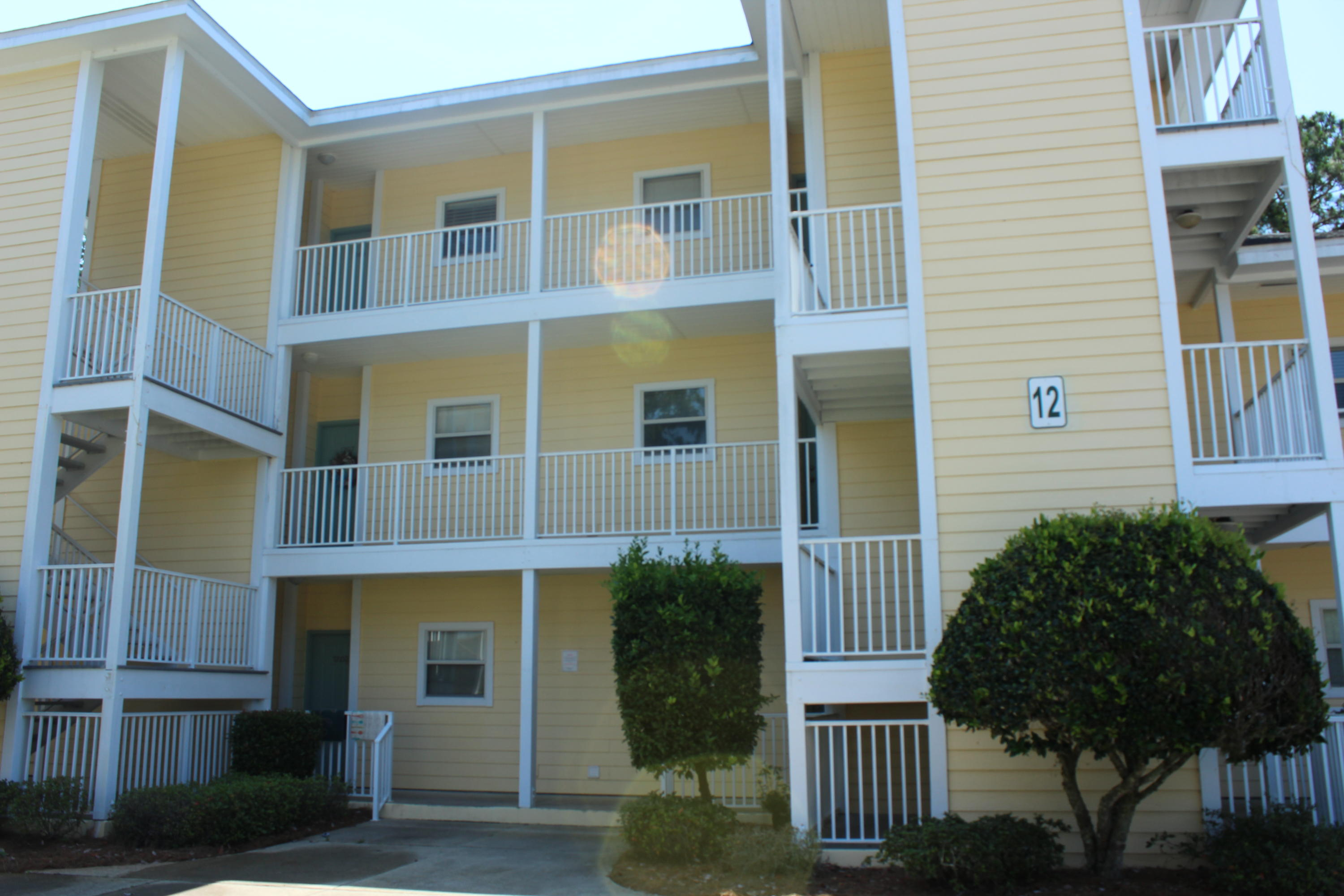 Location, Location! Make this sought after two bedroom two bathroom condo your personal home or vacation home today! Located close to the white sands and emerald coast beaches of Destin, Florida, shopping, dining, and more! This unit has a view from the master bedroom and living room of a wooded area, which provides maximum privacy. The pool is just behind that wooded area and only a short distance from the unit. Pointe of View community offers a beautiful swimming pool, exercise room, and is PET friendly. The two large bedrooms each offer their own en-suite bathroom. Kitchen has all stainless steel appliances. Large Laundry Room with plenty of storage room. All appliances convey with property. Buyer to verify all dimensions and information!