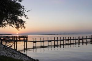 Bay views at sunset