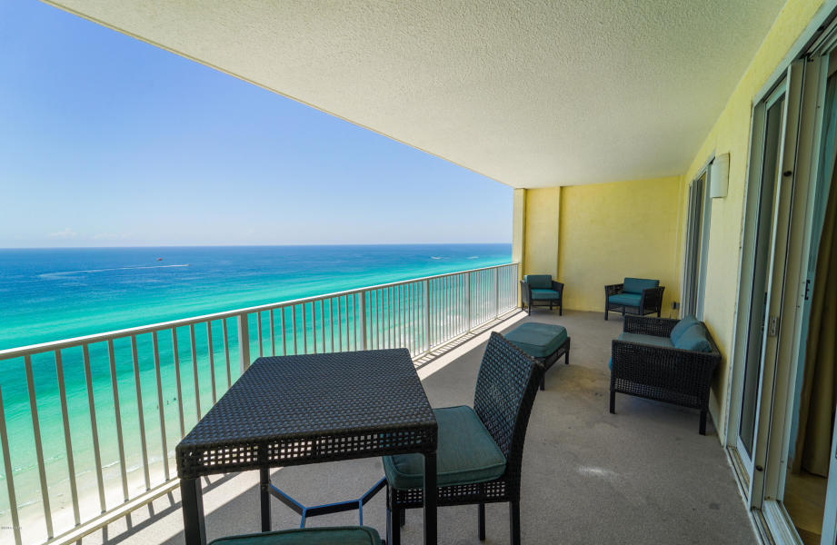 This is a wonderful 16th floor unit. It is being sold RENTAL READY! I love Ocean Reef for a number of reasons... parking is underneath the complex (no walking across the street).  I love, love, love the  large (28x10) balconies, the amenities are just enough (and keep the HOA monthly fees to a very low $ a month), and they include a gulf front pool, seasonally heated indoor pool, hot tub, steam room/sauna and a fitness room. Close to Pier Park, restaurants and nearby golf courses. Enjoy the split floor plan and wake up with a spectacular view of the Gulf from your master bedroom. Kitchen has granite countertops and stainless steel appliances. Beautifully furnished with coastal style furniture. This condo comes with it's own parking space. Come and experience this amazing property.
