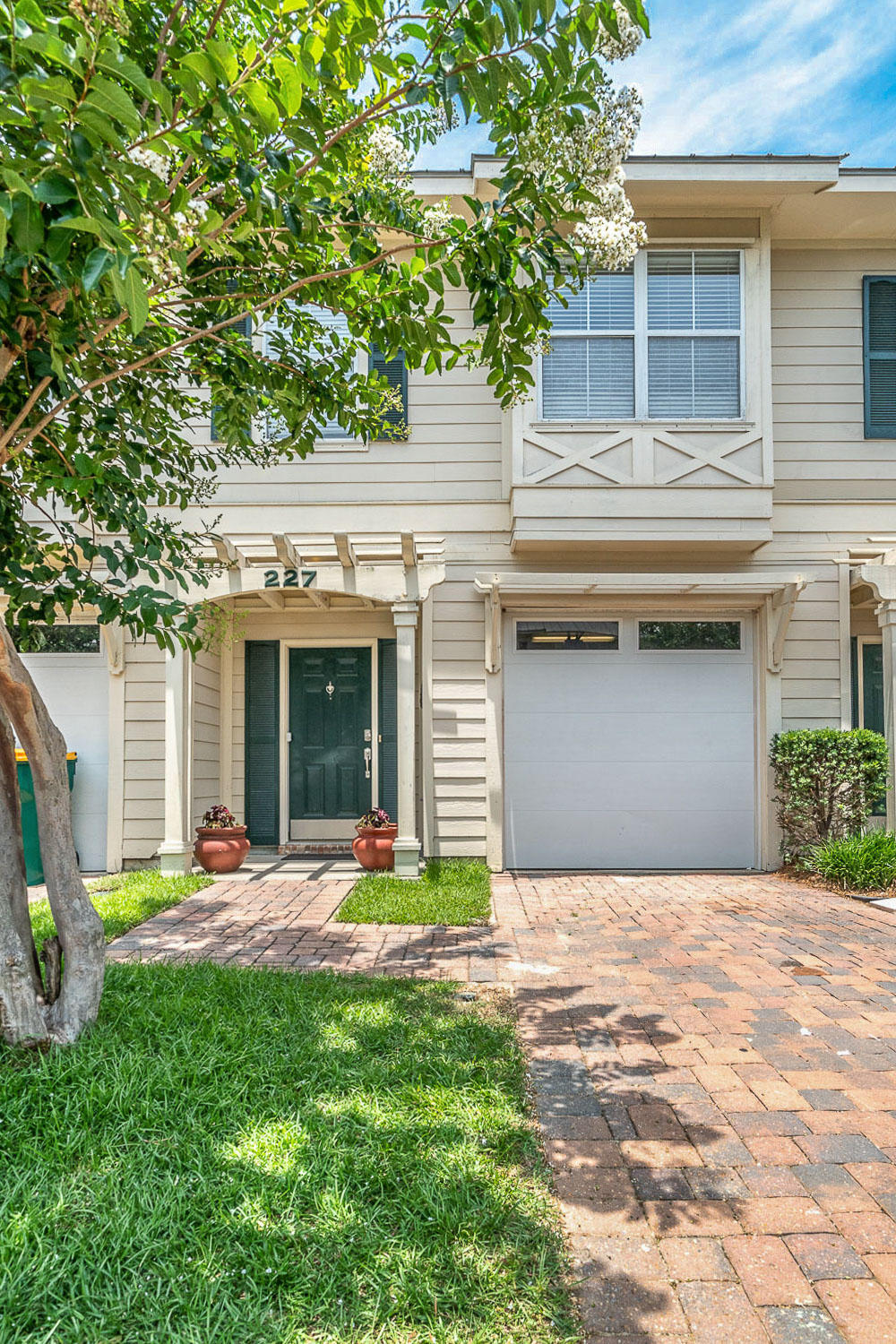 Destin's Premier Town Homes, Old Bay Village is located in the heart of Destin minutes from the beach! This 3 bedroom 3 bath home offers granite countertops, stainless steel appliances and beautiful flooring throughout. The spacious living and dining space features beautiful crown molding. The second floor offers a large master suite boasting an oversized walk-in closet, as well as two guest bedrooms that share a bathroom. Washer and dryer hook ups are conveniently located on the second floor. All flooring was replaced in 2016 and new HVAC in 2018. The exterior is equally impressive with a metal roof, Hardee board siding and pavered driveway perfect for permanent living, secondary home or investment property.