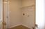 Laundry Room off Half Bath with access to Garage