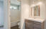 New vanity, mirror, lighting. Private W/C and bathtub/shower combo.