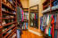 Master Closets with wonderful built in cabinetry and mirror in Her Closet.