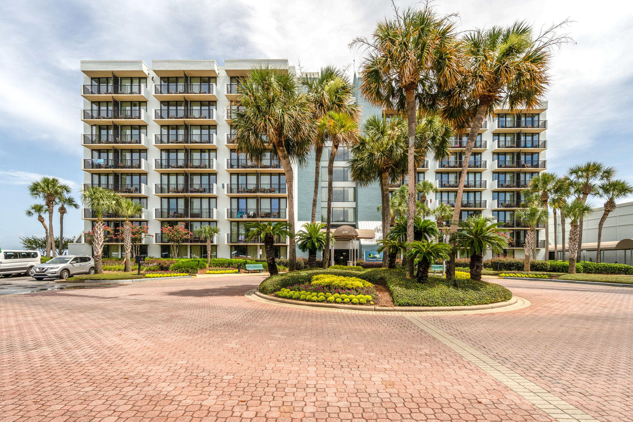 """The minute you enter this one bedroom condo you will be wowed by the view.  180 degrees of Choctawhatchee Bay from the midbay bridge to the west to the Village of Baytowne Wharf to the east. The corner balcony offers the same amazing view and complete privacy with access from living room and bedroom.  The living area features two sleeper sofas so no shortage of space for guests and the easy care laminate flooring throughout means no worries about messes. The bedroom is ensuite to the large bathroom which offers two vanities and a huge garden tub. A fully equipped kitchen completes the picture. Bayside At Sandestin owners enjoy use of the wonderful pool on the bay and easy access to the Sunset Bay Cafe for breakfast or lunch. This condo has not been rented and it shows. Brand new HVAC. As an introduction to the Sandestin lifestyle, we invite our new owners to explore amenities that make Sandestin special. The listing brokerage and seller(s) are presenting the buyer(s) of this property with (2) 90-minute rounds of Tennis court time, a golf foursome at one of our three championship courses, a round of golf for up to four (4) players and an invitation to """"Club Night"""" at the unrivaled Burnt Pine Golf Club.  Sandestin Golf and Beach Resort is a major destination for all seasons and all ages, and has been named the #1 resort on Florida's Emerald Coast. This magical resort spanning over 2,000 acres is comprised of over 70 unique neighborhoods of condominiums, villas, town homes, and estates. The resort features miles of sandy white beaches and pristine bay front, four championship golf courses, a world-class tennis center with 15 courts, 4 resort swimming pools (and 15 private neighborhood pools), a 113-slip marina, a fully equipped and professionally staffed fitness center and spa, meeting spaces and The Village of Baytowne Wharf, a charming pedestrian village with events, shopping, dining, family entertainment and nightlife. For true golf cart community living, Grand Boul"""