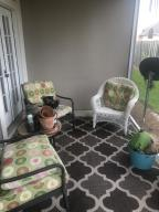 Covered patio, screened.