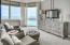 Master Bedroom with floor to ceiling glass