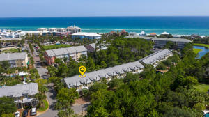 Townhomes are located on the quieter west side of Gulf Place at the intersection of 30A and 393